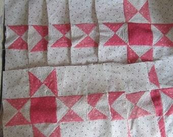 """25 Darling Antique Ohio Star Quilt Blocks 9"""""""