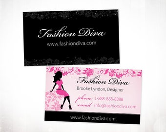 Premade Business Card Design • Fashion Diva