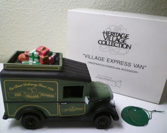 DEPT 56. HERITAGE VILLAGE . Village Express Van. From The Heritage Village Collection. Department 56 Christmas Village Collectible.