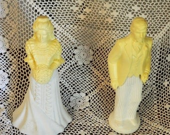 Avon Cologne Bottles, Bride & Groom, Bridal Moments, Proud Groom Avon Figurine