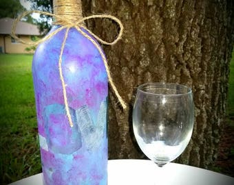 Decorative and wrapped Love Wine Bottle