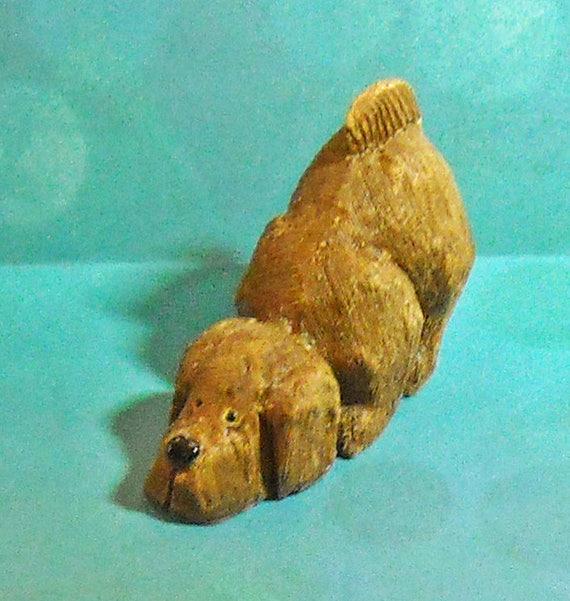 Whimsical Vintage Artesania Rinconada Dog Figurine From Uruguay