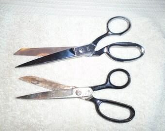 2 pair of scissors. Vintage scissors. Kleencut scissors. Italian scissors. vintage scissors. scissors.