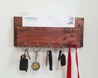 Mail holder, leash holder, and key holder, leash hanger, key hanger, mail holder, entry shelf, or mailbox