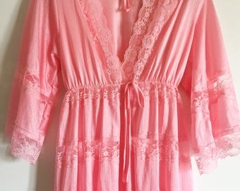 Pink Burnette Gown and Robe