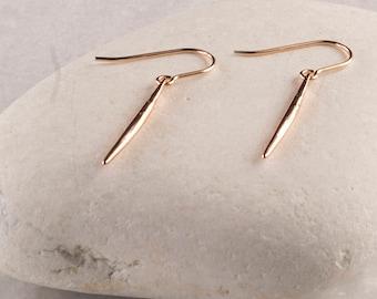 Needle Earrings/Spike earrings/Rose Gold Spike earrings/Rose Gold Needle Earrings