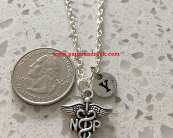 Licensed Practical Nurse initial necklace -nurse jewelry, gift for nurse, LPN jewelry, nursing student gift, LPN necklace, medical jewelry