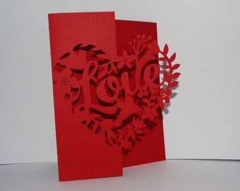 Card Valentine heart love