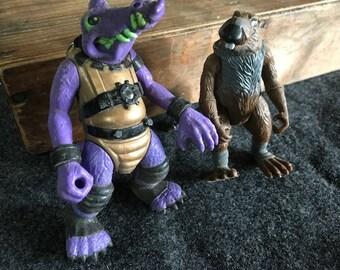 1980s action figures TMNT Master Splinter and Al Negator