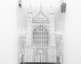 Winchester Cathedral Paper Cut