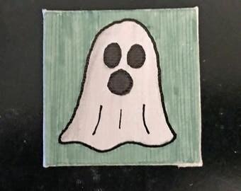Halloween Tiny Magnet #6 Original Illustration on Canvas Board