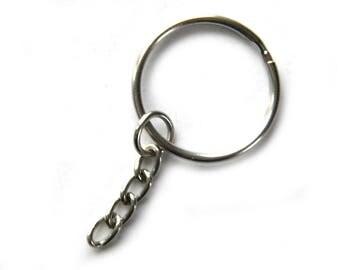 25 Silver Key Chains