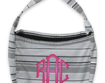 Pro-Weave Colorful Slouch Bag with Adjustable Knotted Straps and FREE Customization, Monogram MV16500 GS