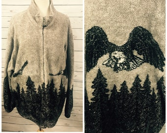 90's bald eagle sweatshirt - XL vintage eagle hoodie - oversized sweater vintage 90's eagle