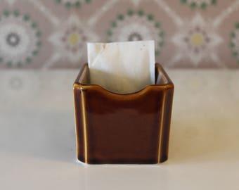 Vintage Sugar Packet Holder, Sweet & Low Holder, Restaurant Ware Sugar Holder, Diner Sugar Packet Holder, Brillo, Tea Bag Holder, Rego China