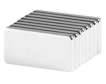 1 x 1/2 x 1/8 Inch Strong Neodymium Rare Earth Block Magnets N42 (8 Pack)