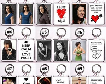 ON SALE NOW Paget Brewster Keychain Key Ring - Many Designs To Chose From