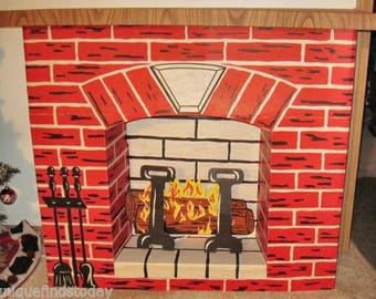 Shop for cardboard fireplace on Etsy