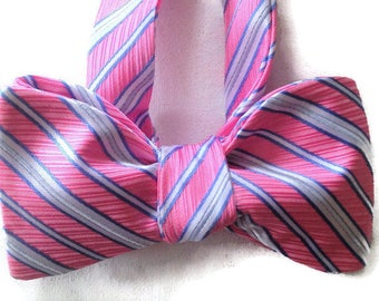 Silk Bow Tie for Men - Sugar - One-of-a-Kind, Handcrafted, Self-tie - Free Shipping