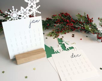 2018 Die Cut Desk Calendar perfect for a Christmas or Teacher Gift, In stock, Ready to Ship
