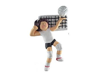 Volleyball (Female - Brunette) Personalized
