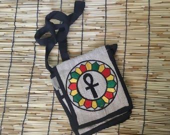 Eco Friendly Boho Pure Hemp  Messenger/Shoulder Handbag