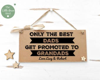 Best Dads Plaque Grandads Sign Personalised Gift Keepsake Fathers Day