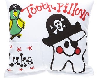 Personalized Pirate Tooth, Tooth Fairy Pillow
