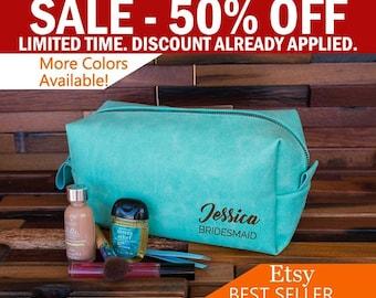 Bridesmaid Makeup Bag, Cosmetic Bag Bridesmaid Gift, Personalized Make Up Bag, Travel Kit Bag, Women Makeup Case, Toiletry Bag
