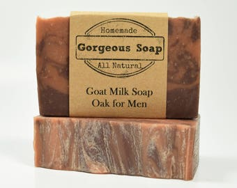 Oak for Men Goat Milk Soap - All Natural Soap, Handmade Soap, Homemade Soap, Handcrafted Soap