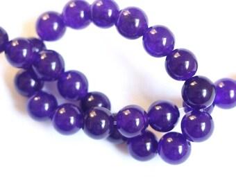 5 8mm purple jade beads