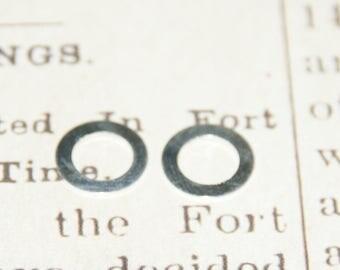 2 rings in silver 11mm