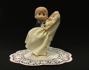 Bride & Groom Cold Porcelain Cake Topper, Wedding, Bridal Shower