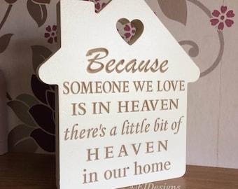 Heaven quote, memorial