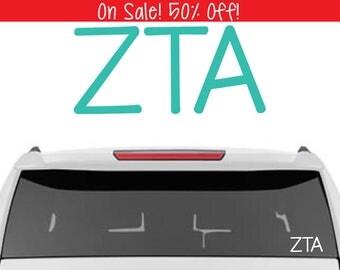 50% OFF!    Zeta Tau Alpha Decal | Sorority Car Decals, Sorority Vinyl Decal, Sorority Laptop Decal, Sorority Decal