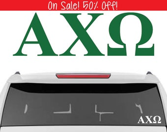 50% OFF!    Alpha Chi Omega Decal    Sorority Car Decals, Sorority Vinyl Decal, Sorority Laptop Decal, Sorority Decal
