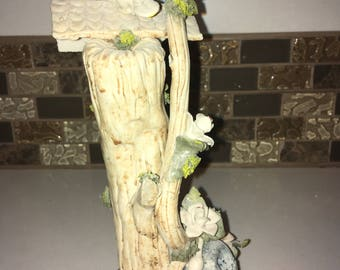 Beautiful Ceramic Tree with Birds and Flowers