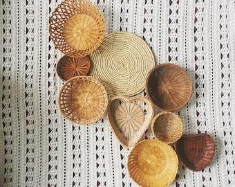 Bohemian Basket Collection / Basket Wall Art / Boho Home Decor