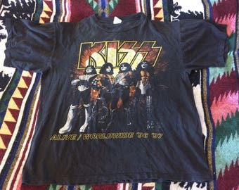 1996 KISS I Was There Setting Denver On Fire Tour Shirt XL