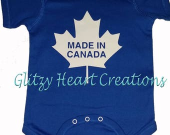 Baby Onesie, Made in Canada design, onesie, baby gift, baby shower, baby present, new arrival, new baby, baby clothes, onsie, cotton onesie