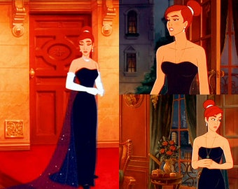 Anastasia Night blue opera gown cosplay costume