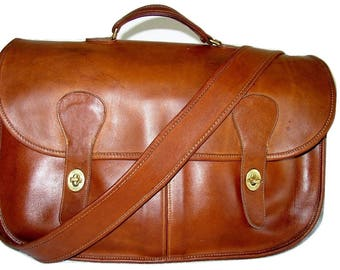 """Reconditioned_COACH Auth British Tan """"Carrier"""" Mussette Messenger_Courier Style Cross-body_USA_Free Shipping_Gorgeous!"""