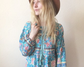 Nutshell Vintage Boho Gypsy Smock Dress