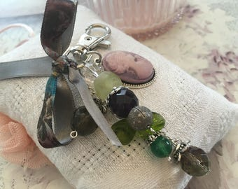 bag charm mother of the vintage glass beads