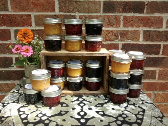 25- 4oz Cordial Jam Variety Pack, Strawberry, Peach, Blueberry, Jam, Preserves, Jelly