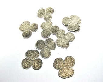 FLOWER CLOVER LAMBSKIN PONGEE OLD FASHIONED GOLD 25 MM