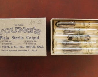 Vintage Surgical Suture - Young's Plain Sterile Catgut - 1917 Date - Displayable