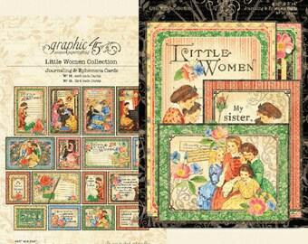 NEW!!! Graphic 45 Little Women Ephemera Cards SC007766