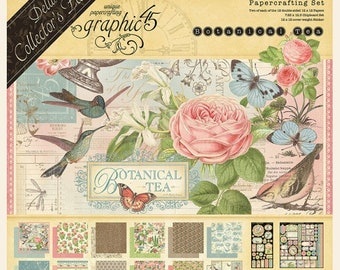 NEW!!! Graphic 45 Botanical Tea 12x12 Deluxe Collector's Edition SC007781