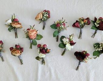 Wedding boutonniere etsy boutonniere succulent boutonniere rustic boutonniere silk flower boutonniere flower boutonniere wedding junglespirit Images